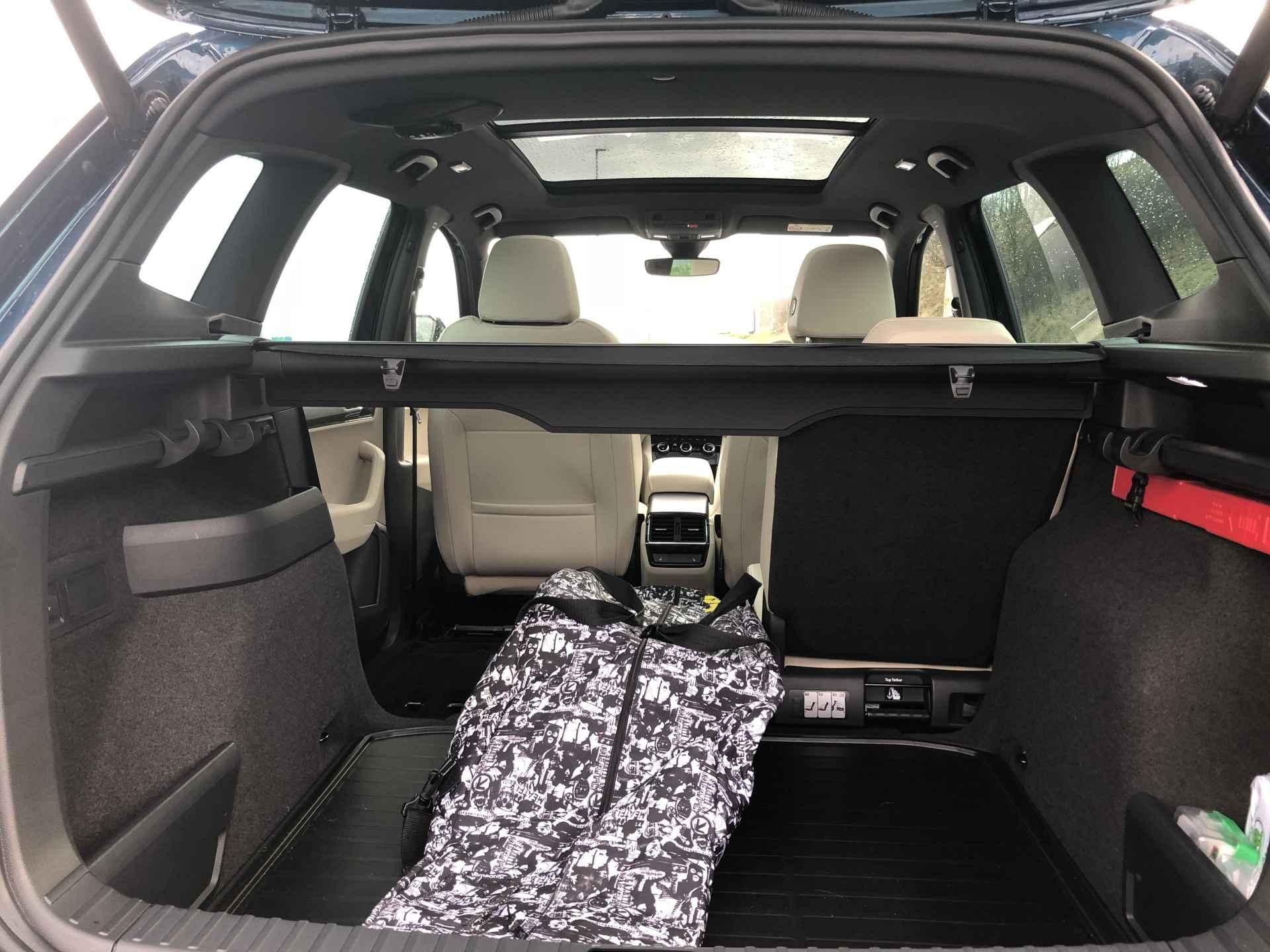 Vyjmutelné zadní sedačky Varioflex jsou velmi praktické na cesty ve čtyřech, kdy se do auta vejde spoustu věcí.