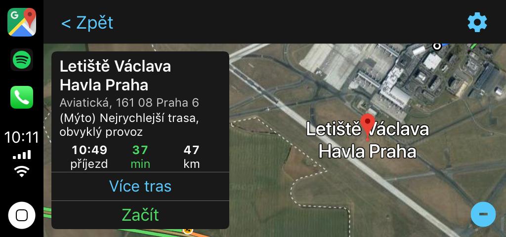 Google Maps v Apple Carplay nově od iOS 12