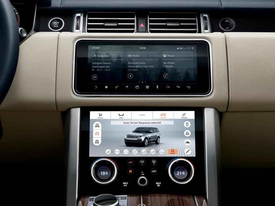 Dva displeje nového Range Roveru 2018
